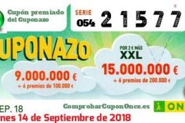 Un vecino de Ibiza gana 25.000 euros con el cupón de la ONCE
