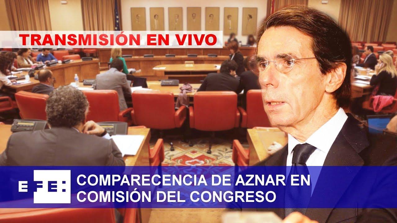 EN DIRECTO | Aznar comparece en el Congreso por la 'caja b' del PP