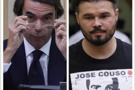 Golpista o sinvergüenza, apelativos del «cara a cara» entre Aznar y Rufián