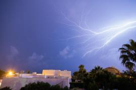 Caen 86 rayos durante la tormenta registrada este martes en Mallorca