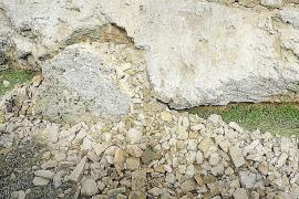 Una mala restauración de hace 30 años provocó el derrumbe en la muralla de Alcúdia