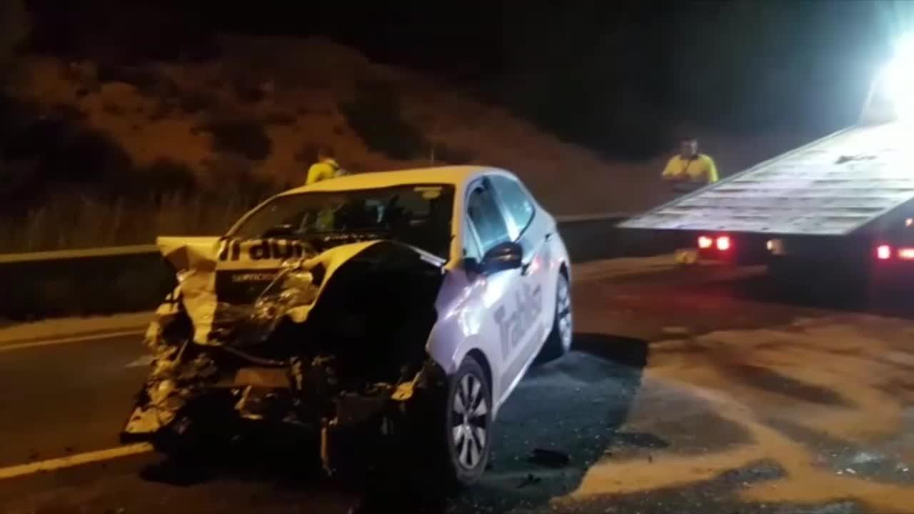 Varios heridos en un accidente en la autopista Palma-Andratx
