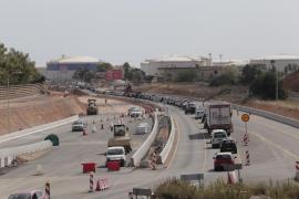 Retenciones en la carretera de Manacor por las obras