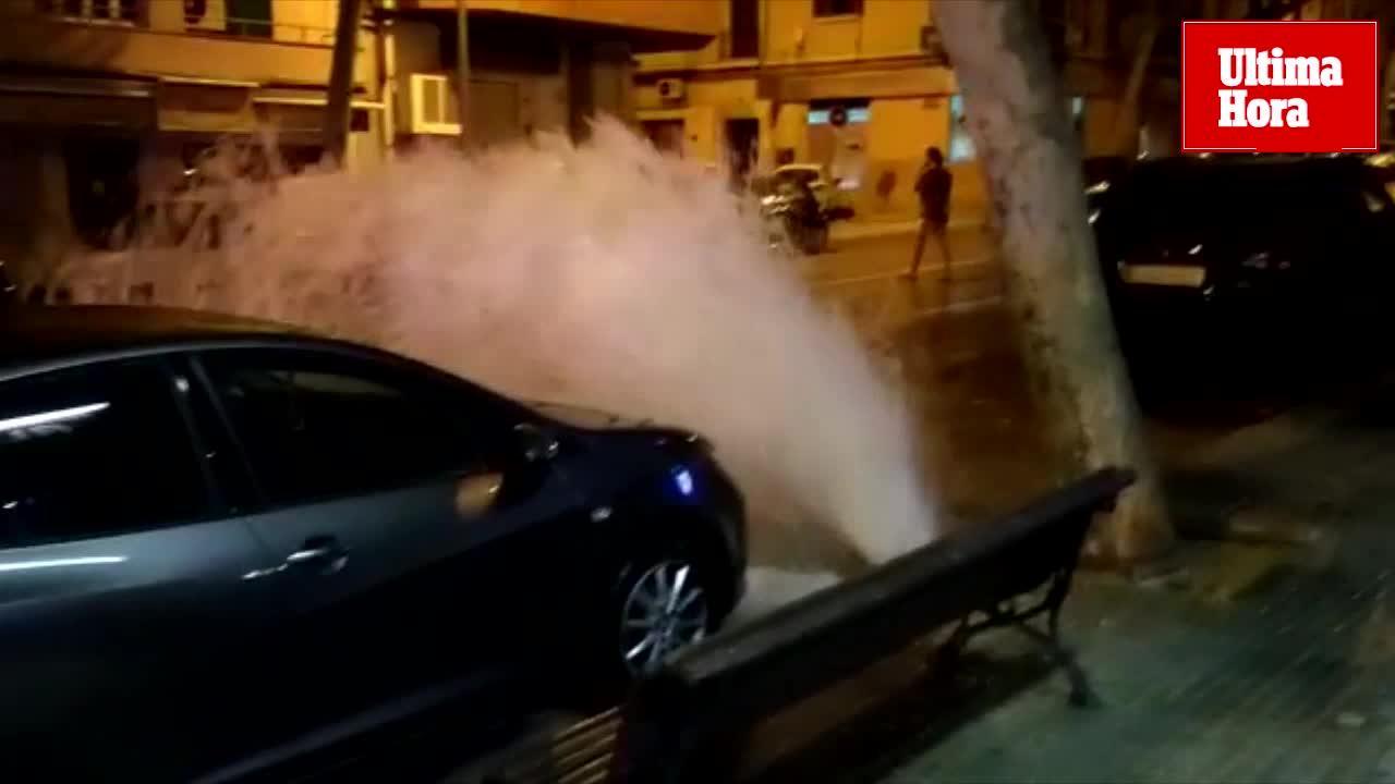 Espectacular fuga de agua en Palma