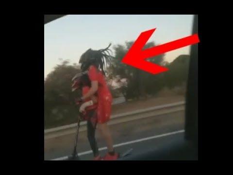 Localizado el adulto que circulaba en patinete eléctrico por la autovía