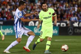 El Leganés gana al Barcelona con una remontada en la segunda parte