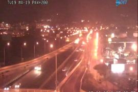 Una colisión múltiple provoca importantes retenciones en la autopista de Llucmajor
