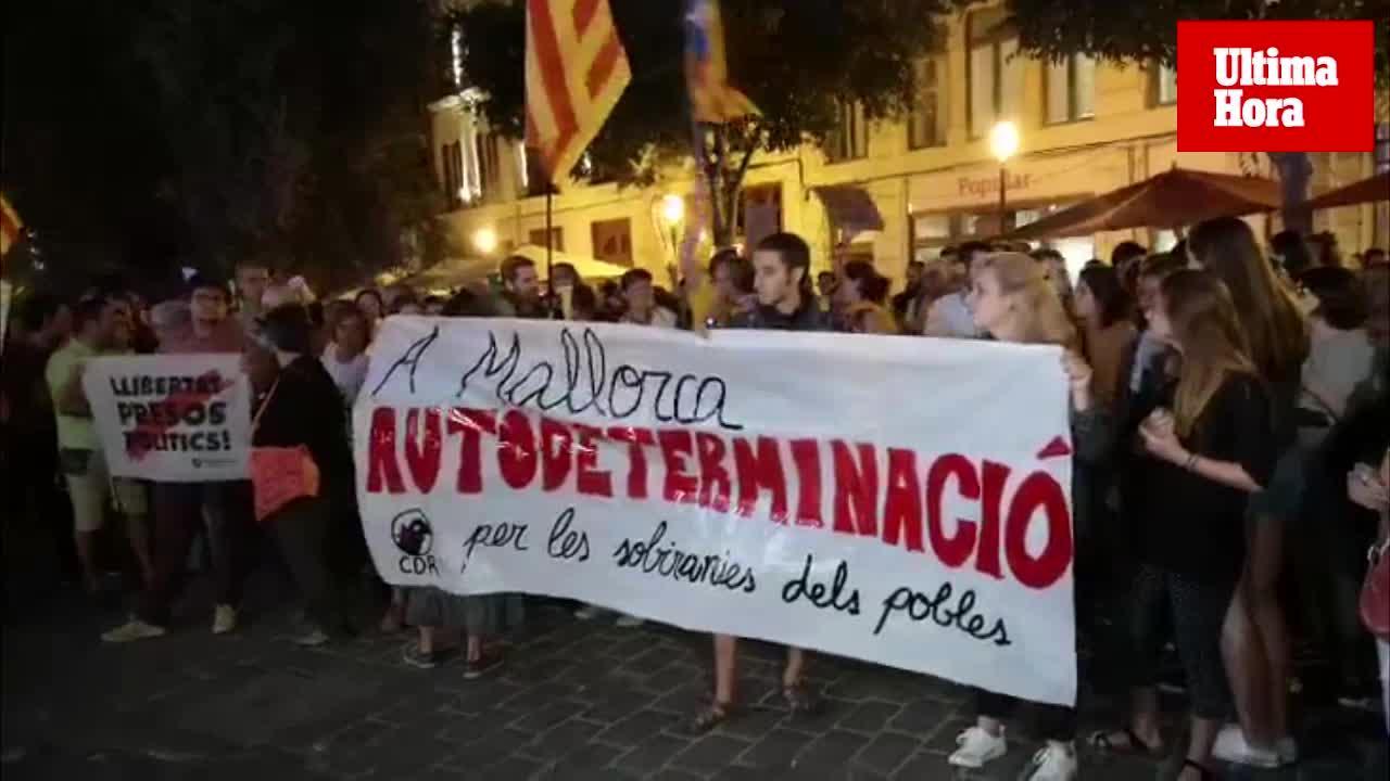 150 personas se concentran en Palma y piden «romper» con el Estado