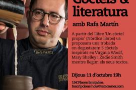 Rafa Martín arranca con 'Còcteles & literatura' el ciclo 'Lectures maridades' en Rata Corner