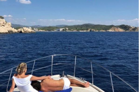 Sharon Stone en Mallorca: «Weekend in paradise»