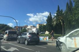 Un choque en cadena provoca un atasco en el Paseo Marítimo de Palma