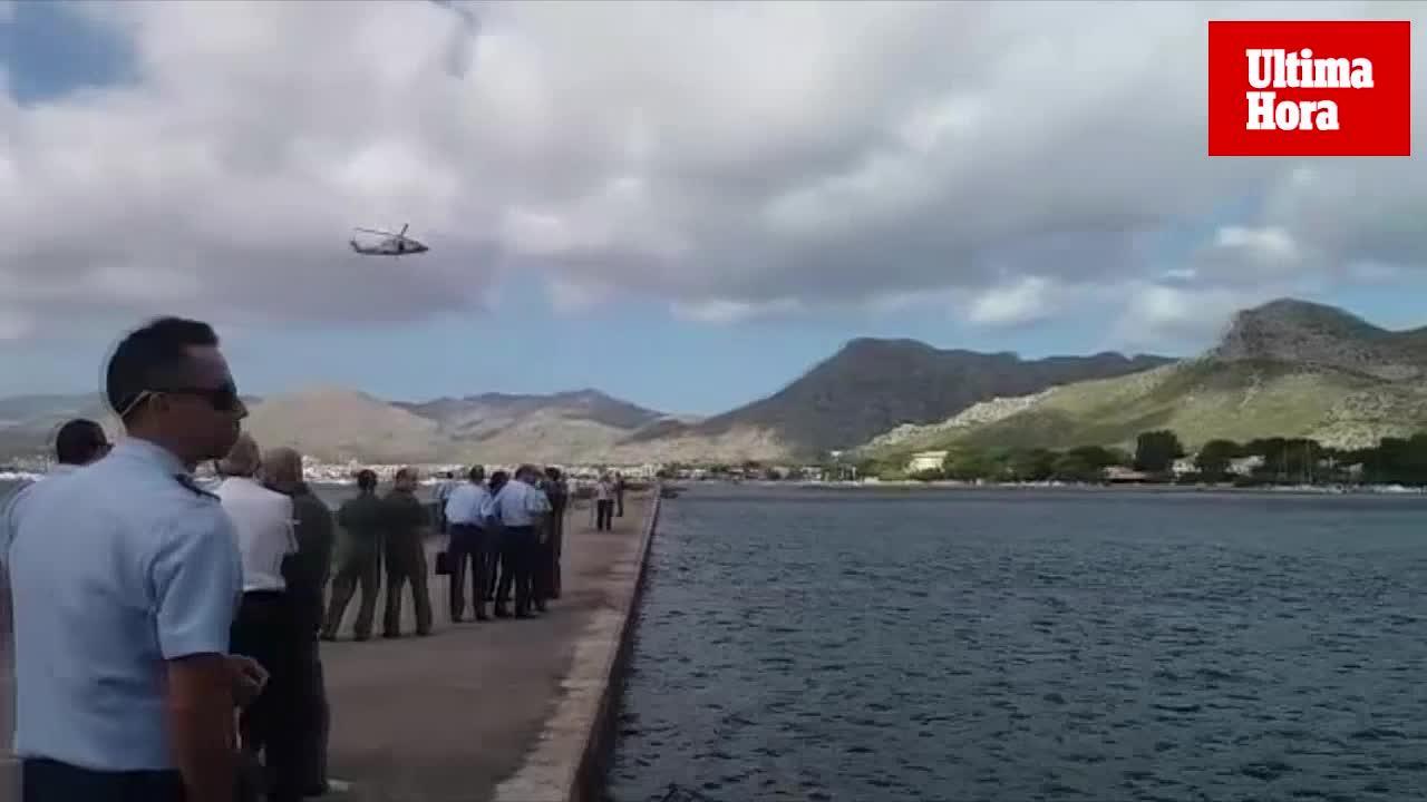 Simulacro de rescate de un avión militar hundido en aguas de la bahía de Pollença