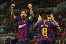 Coutinho, Rakitic y Messi dan la victoria al Barcelona