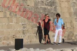 Sharon Stone y su novio, amor en Palma