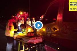 Fallece un conductor en un accidente de tráfico en la M-50 de Madrid