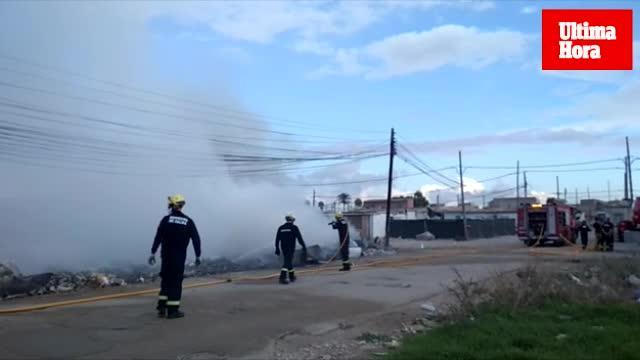 Incendio del cableado eléctrico en Son Banya