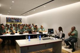 La delegada del Gobierno en Baleares aborda con la Guardia Civil la protección de víctimas de violencia de género
