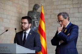 Torra y Aragonès garantizan la unidad de Govern hasta las sentencias del 'procés'