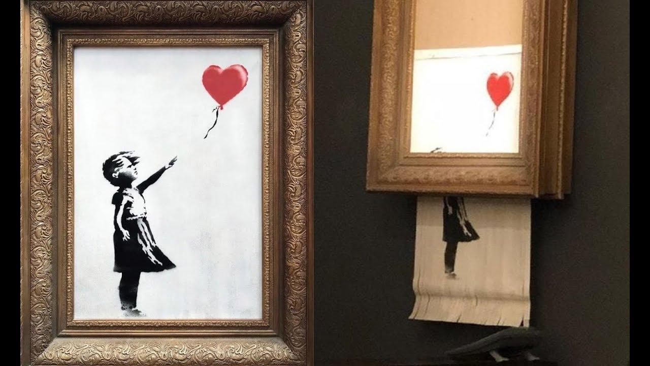 Una obra de Banksy se autodestruye tras ser subastada por más de un millón de euros