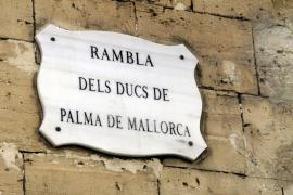 PSM-IV-ExM pide la retirada del nombre de Duques de Palma en la  Rambla