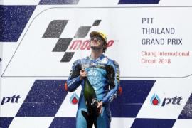 Joan Mir se cae en Tailandia y triunfo con solvencia de Bagnaia en Moto2