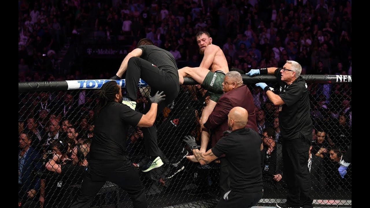 El duelo entre Nurmagomedov y McGregor termina en batalla campal