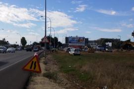 Inician las obras de mejora del acceso a Son Sardina en la rotonda de la carretera de Sóller