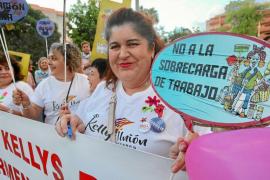 Escasa asistencia a la manifestación en favor de los derechos de las kellys