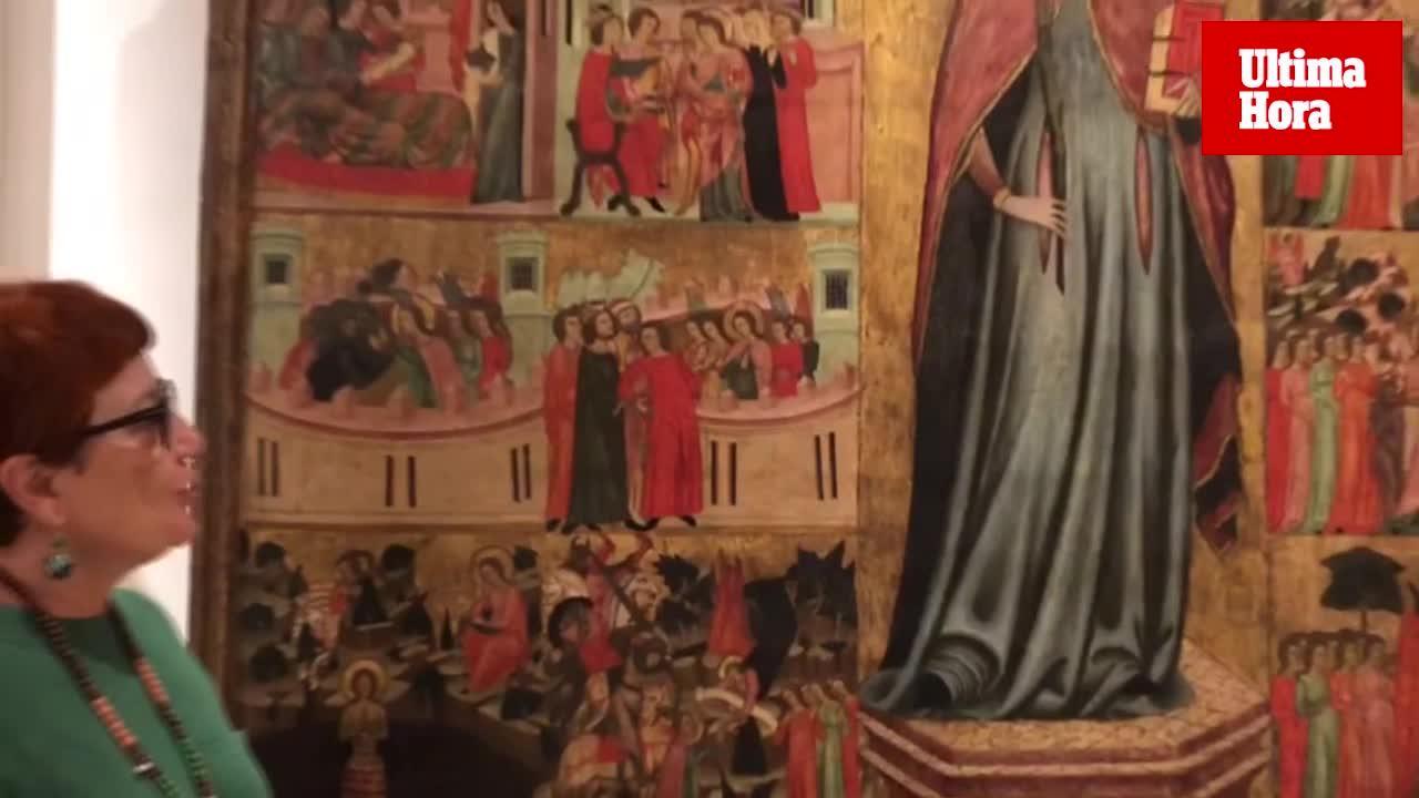 Humedades, caída de pintura y fisuras en obras medievales del Museu de Mallorca