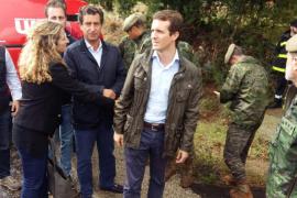 Casado visita la zona afectada por las inundaciones