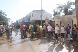 La solidaridad de los voluntarios en Sant Llorenç sobrepasa todas las previsiones