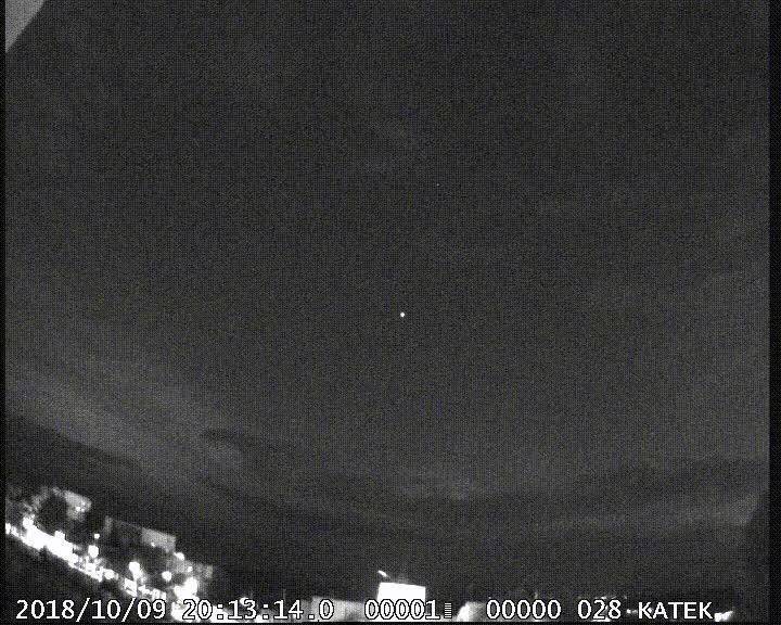 El Observatorio de Puig des Molins capta un espectro rojo en el cielo durante la tormenta en Mallorca