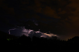 Una tormentosa madrugada reparte precipitaciones por toda Mallorca
