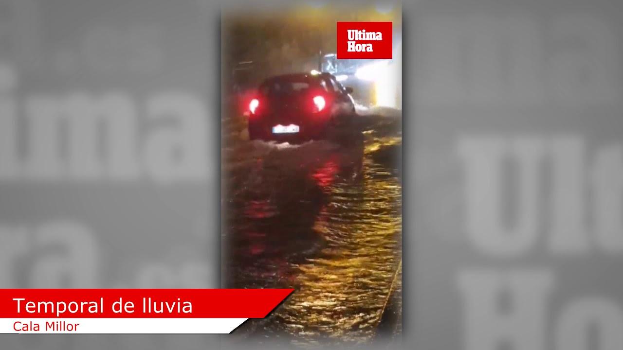 Mallorca sufre el temporal de lluvia y se registran diversas incidencias