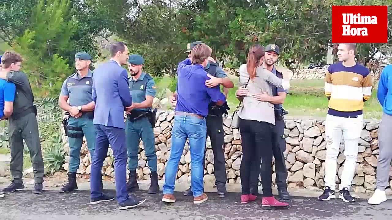 El director general de la Guardia Civil se reúne con los agentes desplegados en Mallorca por las inundaciones