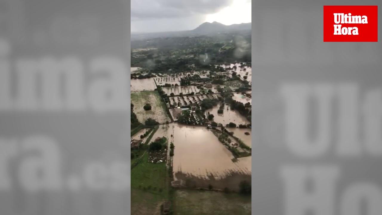 Las inundaciones en Mallorca, desde el aire