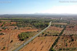 El paisaje que se 'comerá' la autopista Llucmajor-Campos, a vista de pájaro