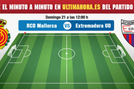 Real Mallorca-Extremadura, en directo