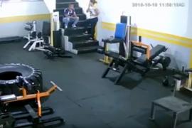 Brutal paliza en un gimnasio de Colombia por no querer volver con él