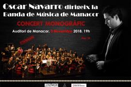 Óscar Navarro dirige a la Banda de Música de Manacor en el tercer concierto de la temporada