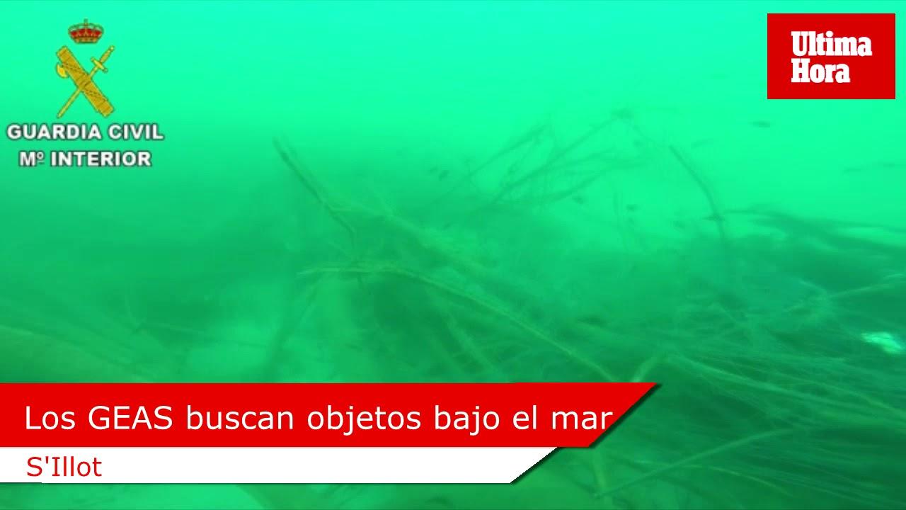Los GEAS rastrean el mar en busca de objetos arrastrados por la riada de Mallorca