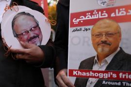 Protestas frente al consulado saudí en Estambul tras la muerte del periodista Jamal Khashoggi