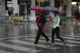 Lluvia, viento y bajada de la cota de nieve en Mallorca