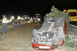 Tres heridos tras una colisión de vehículos en la autopista de Llucmajor
