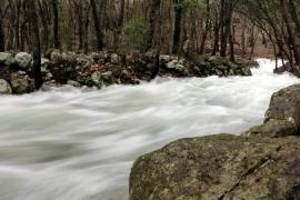 Las fuertes lluvias hacen brotar las Fonts Ufanes en Campanet