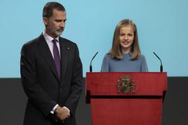 Primeras palabras de la princesa Leonor: «España es una Monarquía parlamentaria»