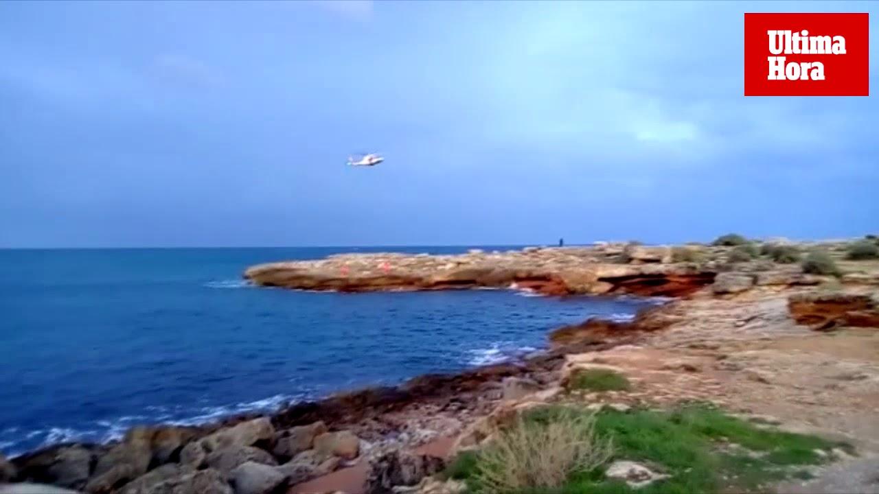 Buscan en la costa de Felanitx a una mujer que ha caído al mar por el temporal