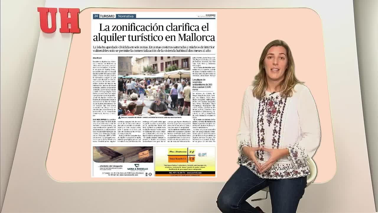 La zonificación clarifica el alquiler turístico en Mallorca