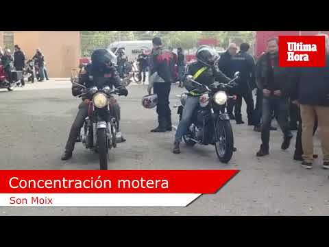 Concentración de motos clásicas en Son Moix