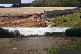 Restituido un terreno rústico de Felanitx en el que se empezó a construir una pista de tenis